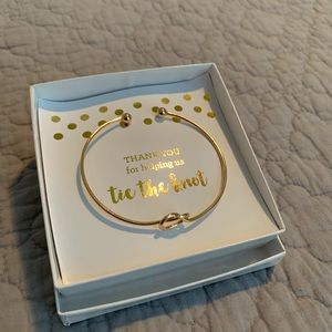 Bridesmaid gold-plated gift bracelet